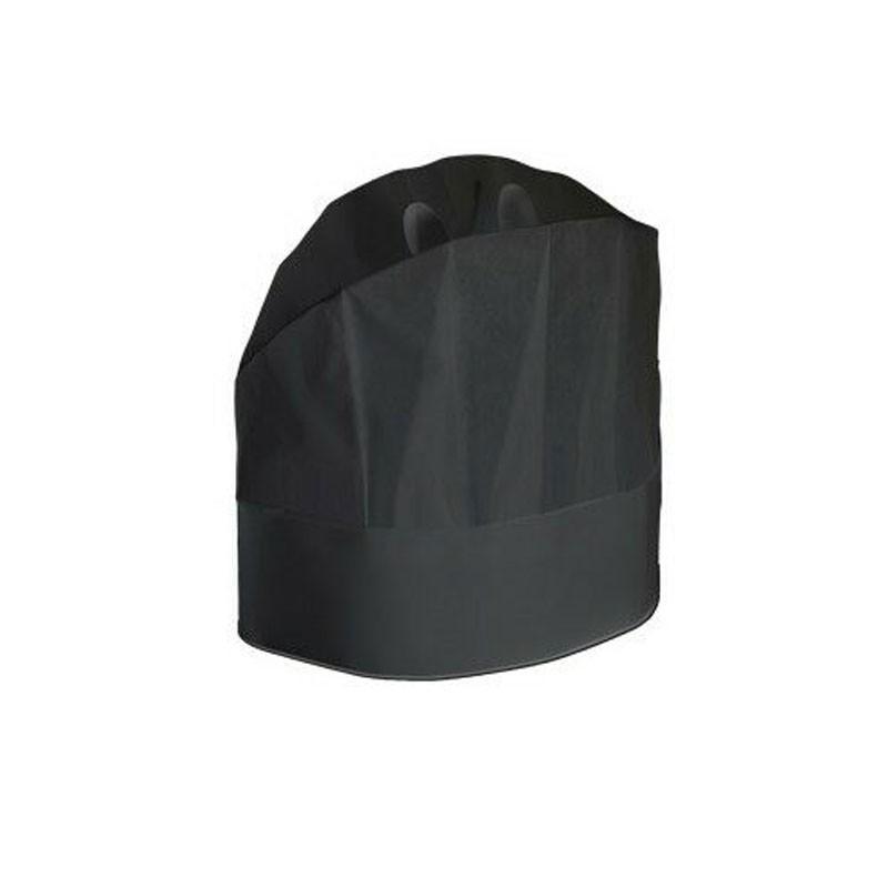 Grand Chef - Cappello carta monouso cm. 23 - Nero - 20 pezzi