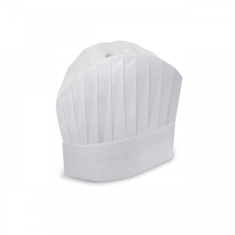 Grand Chef - Cappello carta monouso cm. 30 - Bianco - 20 pezzi