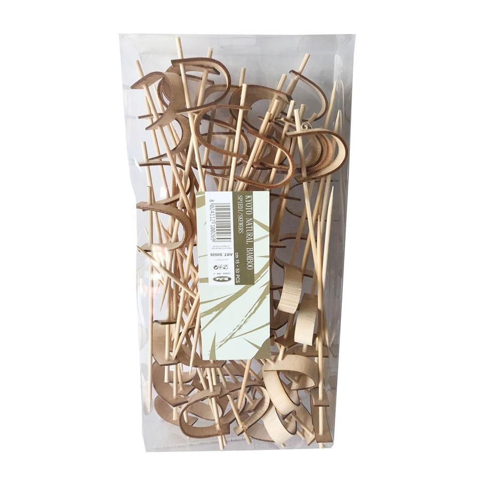 Spiedini Kyoto Natural Bamboo - 50 pezzi