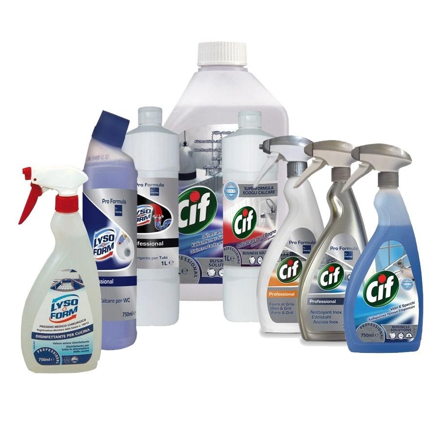 Kit prodotti per pulizia | Prodotti per pulizia e igiene in OFFERTA ...