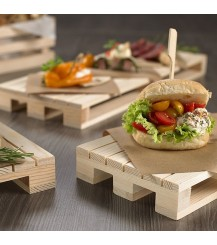 Vassoio minipallet in legno - cm.35x19,6x3,5h