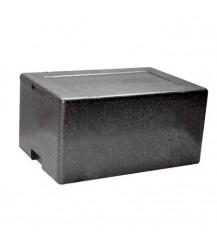 Box termico per alimenti in polistirolo - Nero - cm. 43x60x37