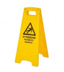 Segnale di pericolo - Pavimento bagnato
