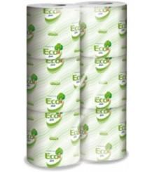 LUCART - Eco Carta igienica 2 Veli Strong 1 fascettata, 12 confezioni da 6 rotoli